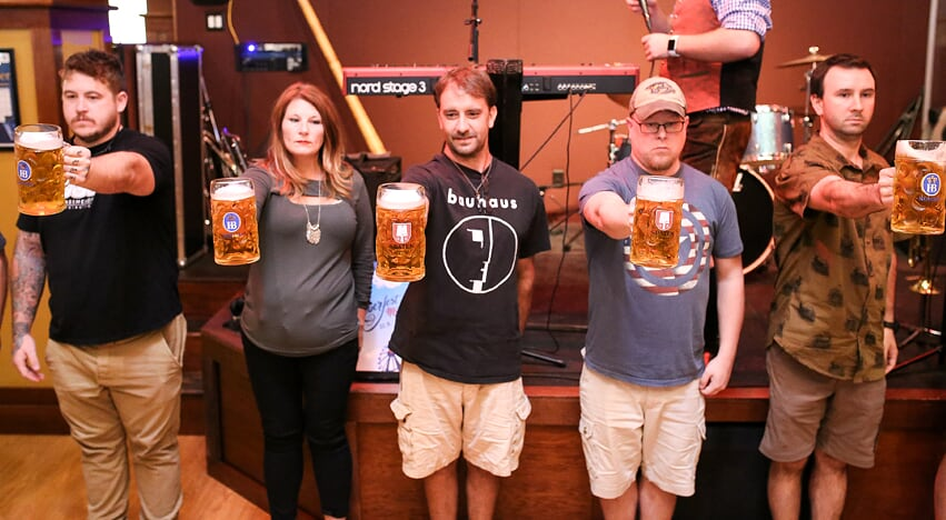 Stein Holding Contest Every Saturday